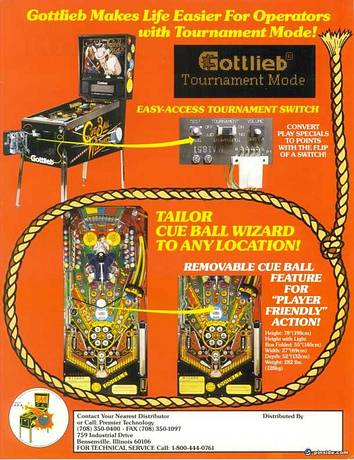 Cue Ball Wizard Pinball Machine Gottlieb 1992 Pinside