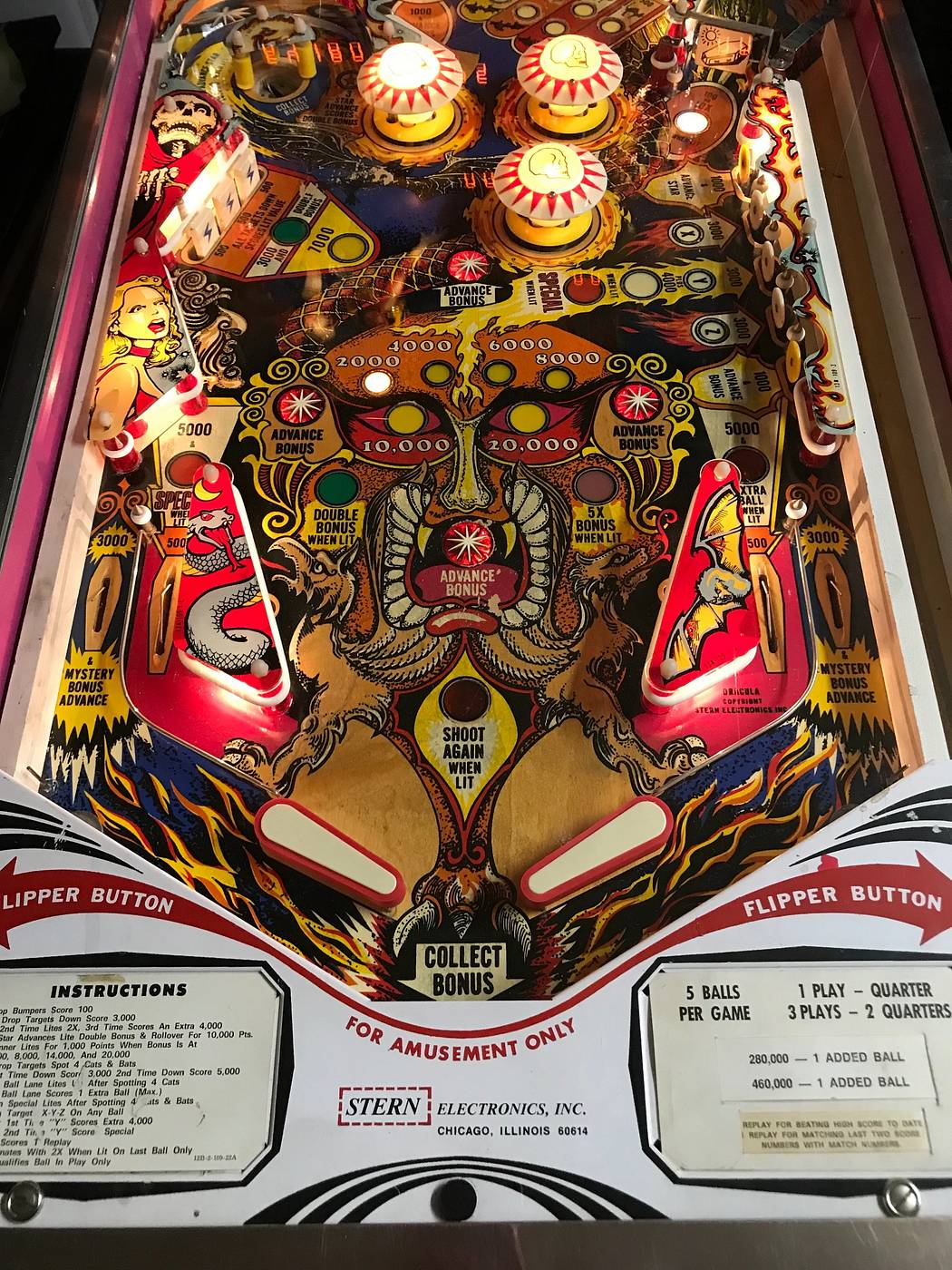 For sale: Vintage Stern Dracula Pinball Machine - for sale
