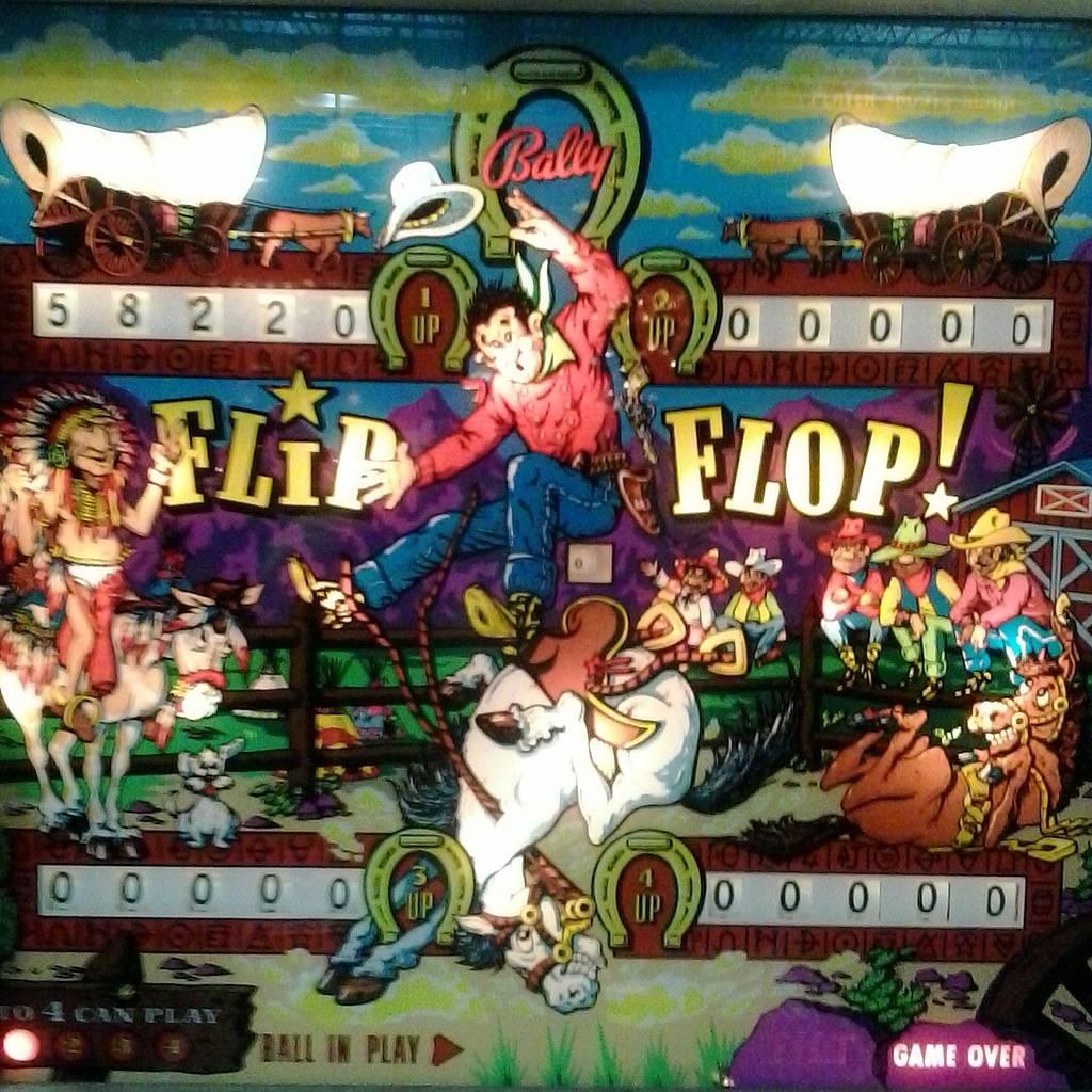 bally flip flop pinball machine