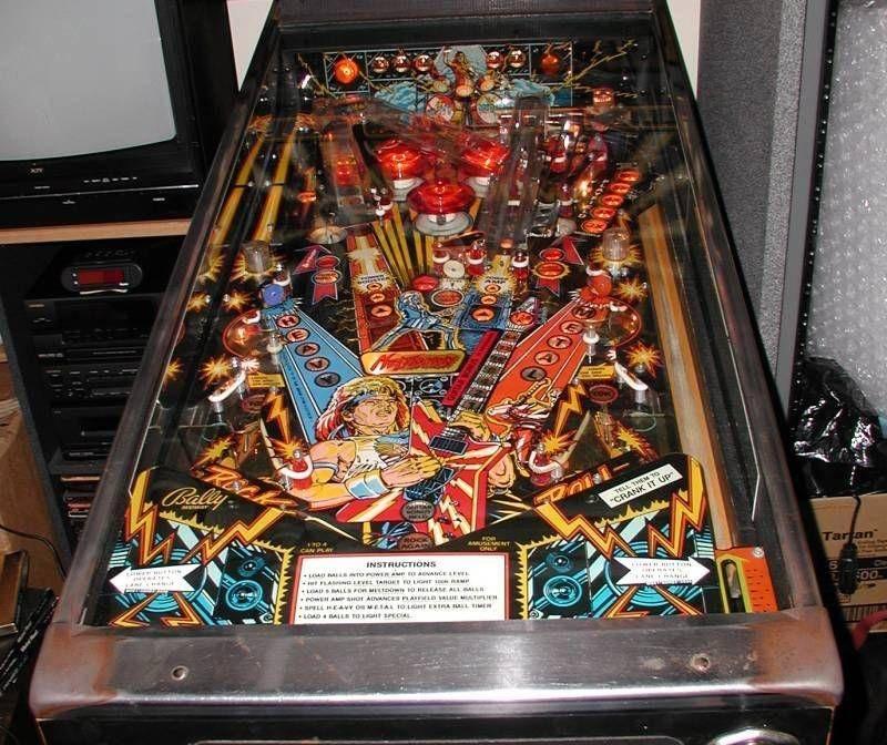 Heavy Metal Meltdown Pinball Machine  Bally  1987