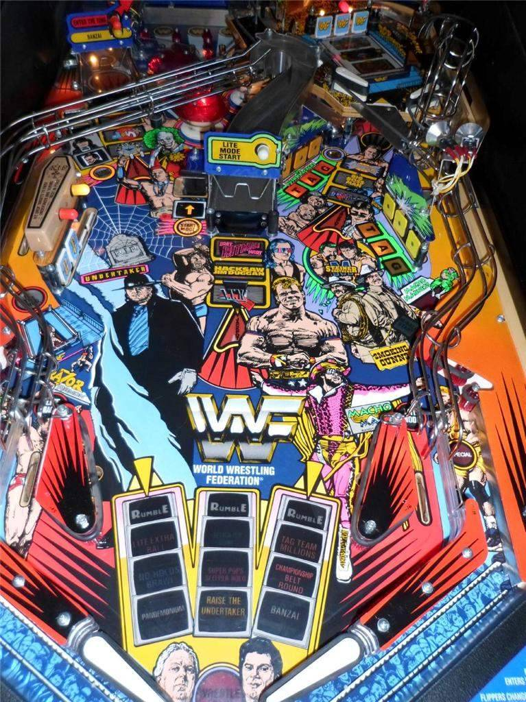 wwf royal rumble pinball machine for sale