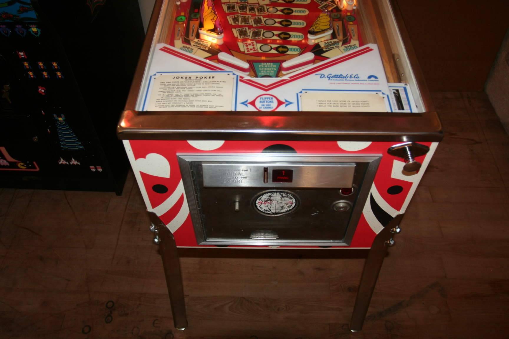For Sale Restored Joker Poker Em Machine Pinball