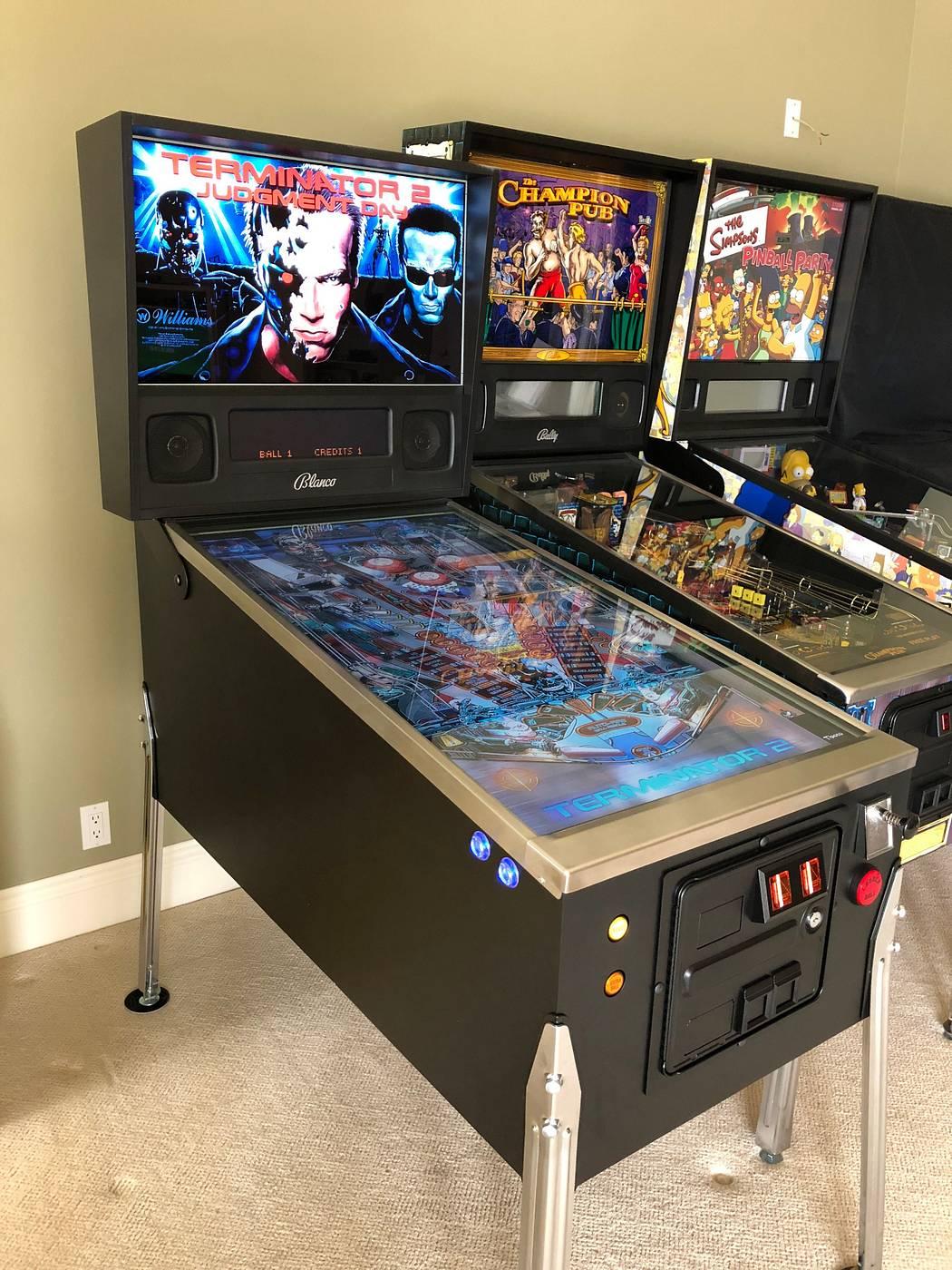 Virtual Pinball Machine - 3 Displays + Force Feedback + More