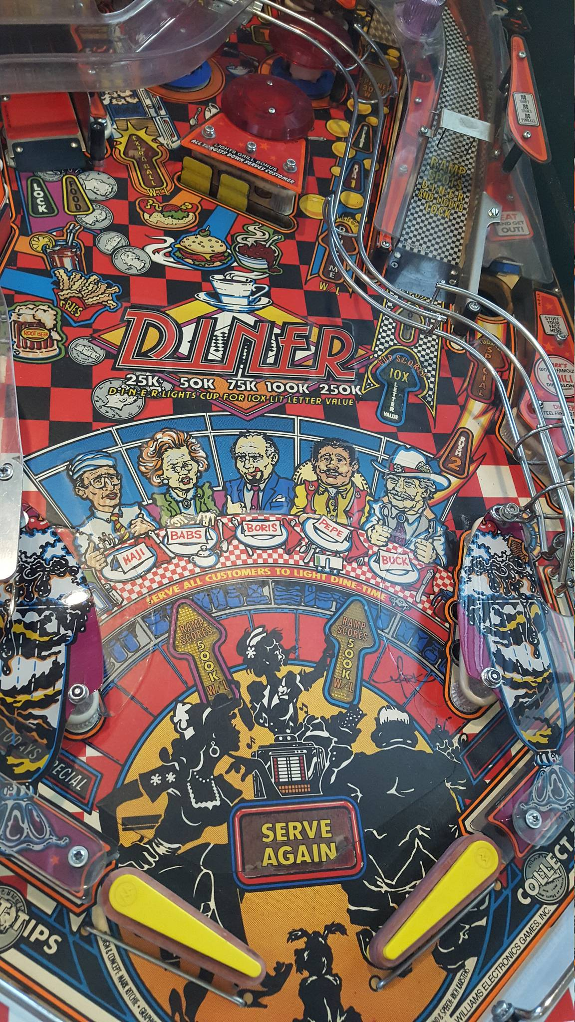 For sale Williams Diner Pinball Machine