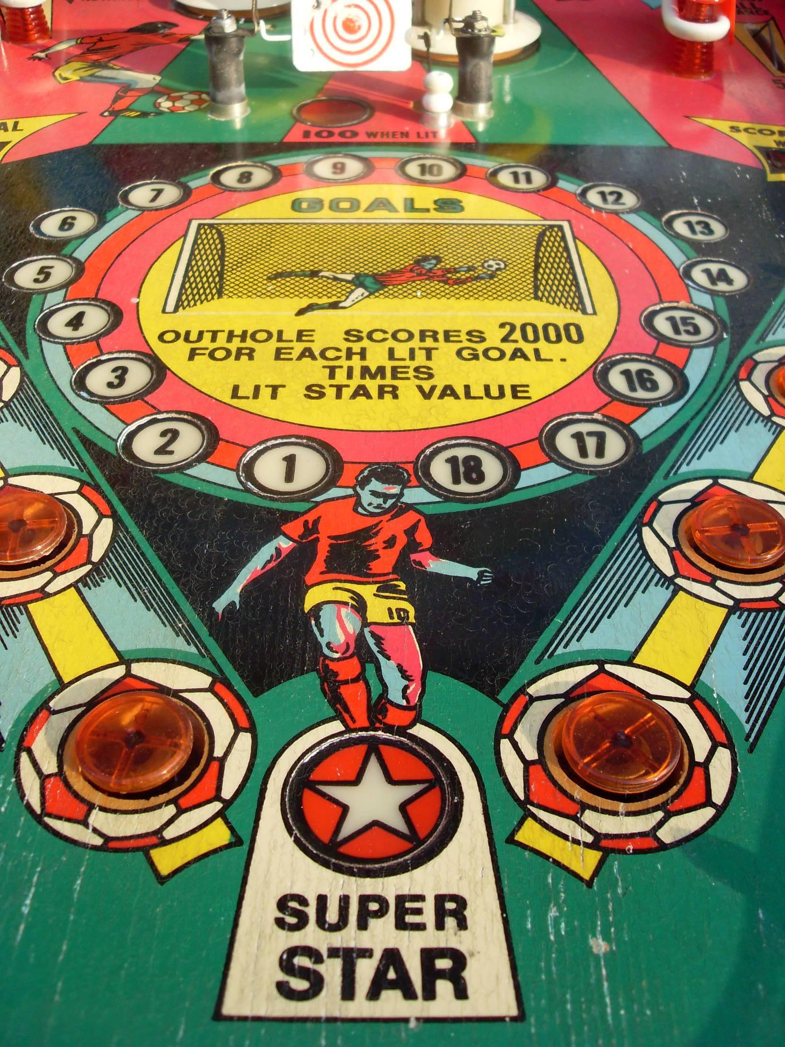 1978 williams world cup pinball machine
