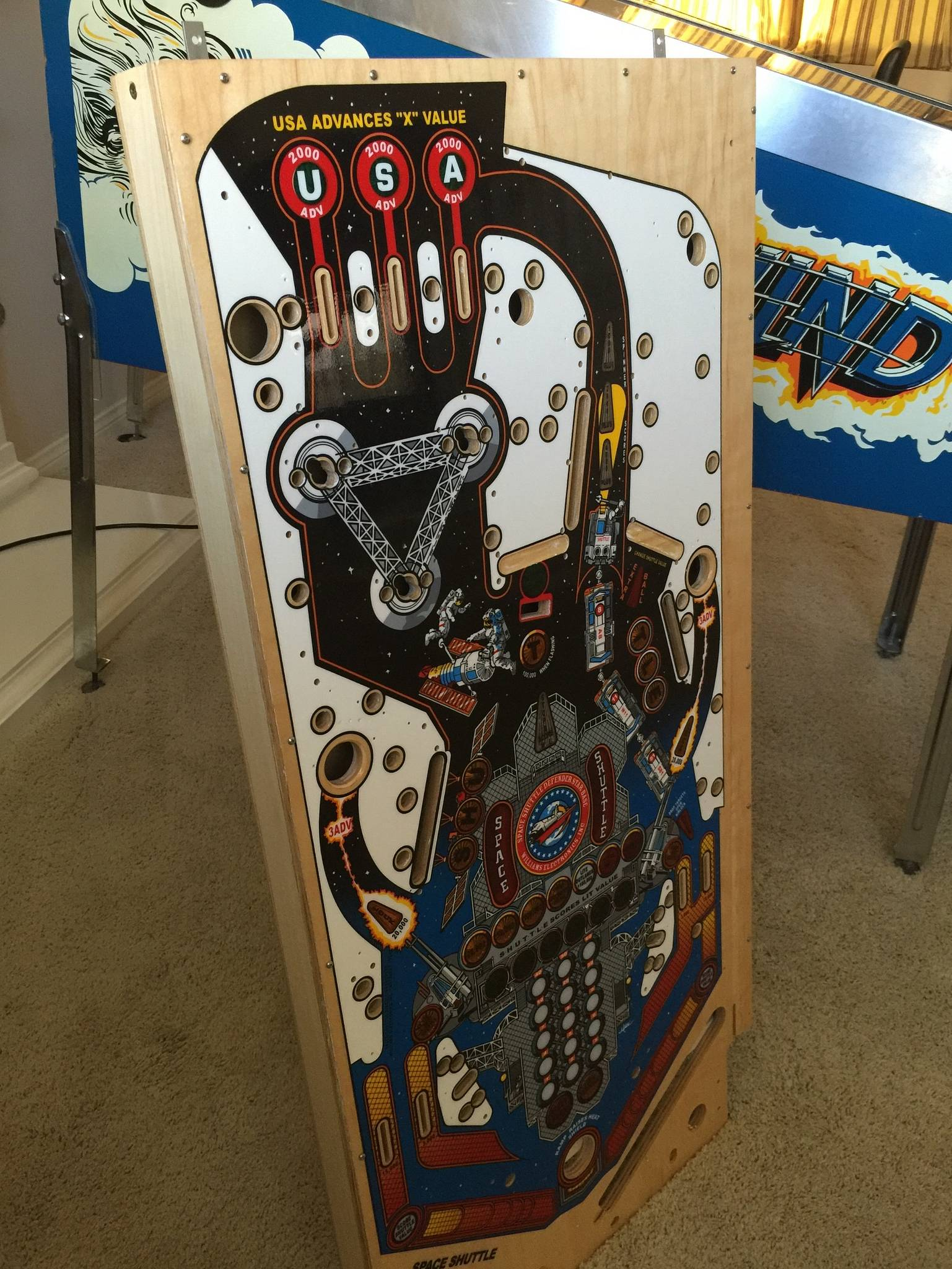 New CPR Space Shuttle Playfield | Pinball parts for sale ...