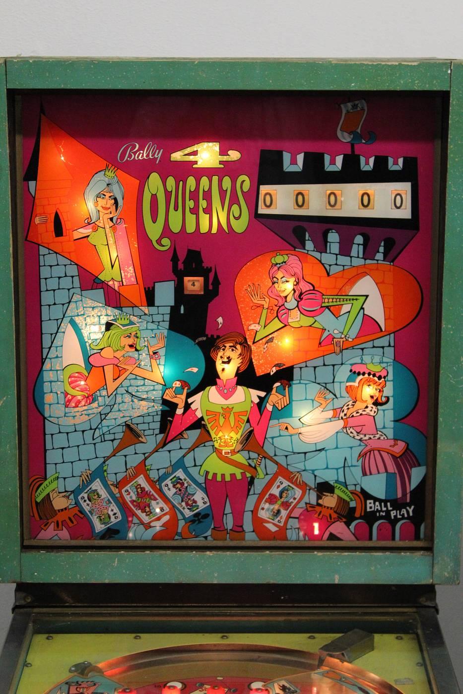 new york innovative design best value For sale: 4 Queens (Bally, 1970) - for sale   Pinside Market