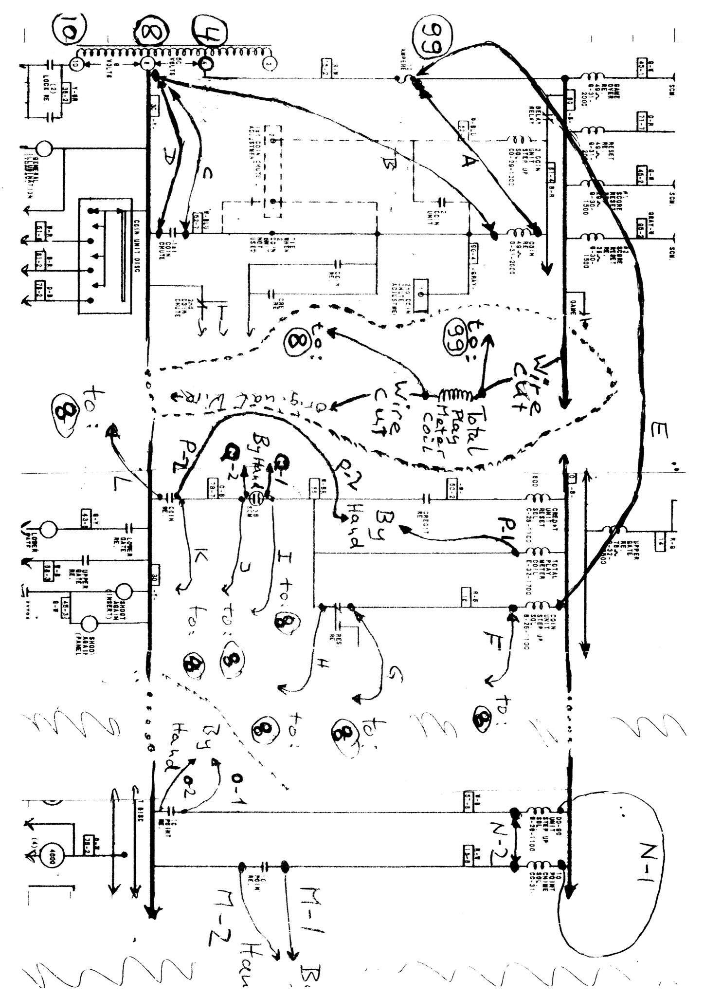 using schematics and 8 foot jumper wires