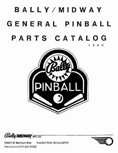 hot product new high quality really cheap W: Parts Catalogs (80s/90s Williams, Bally, Stern) - wanted ...