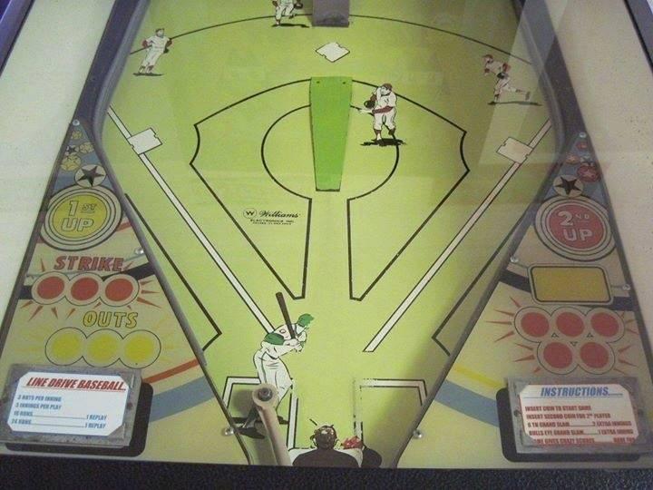 williams line drive pinball machine for sale