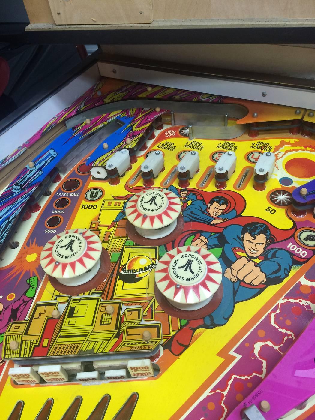 superman pinball machine for sale