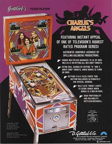 Charlie S Angels Pinball Machine Gottlieb 1978