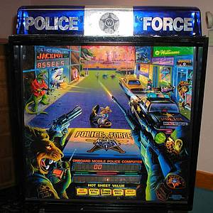 police force pinball machine williams 1989 pinside game archive. Black Bedroom Furniture Sets. Home Design Ideas