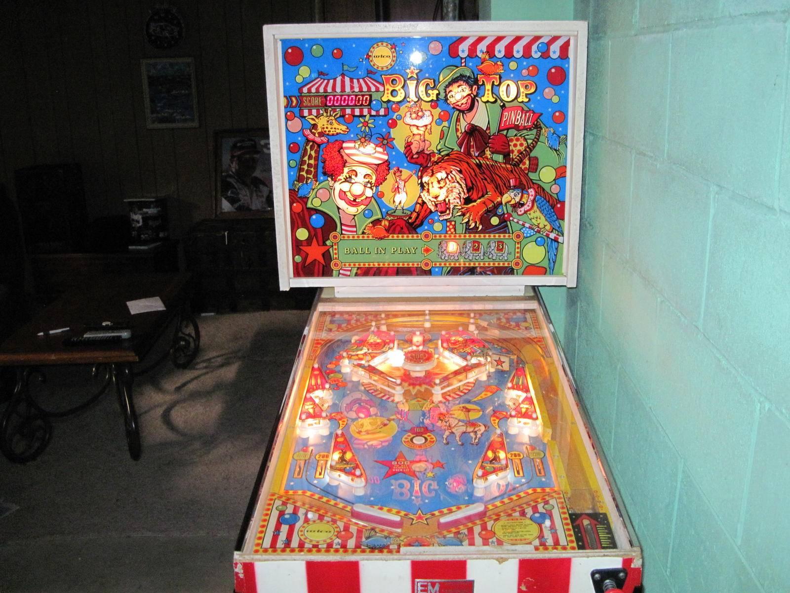 wico big top pinball machine