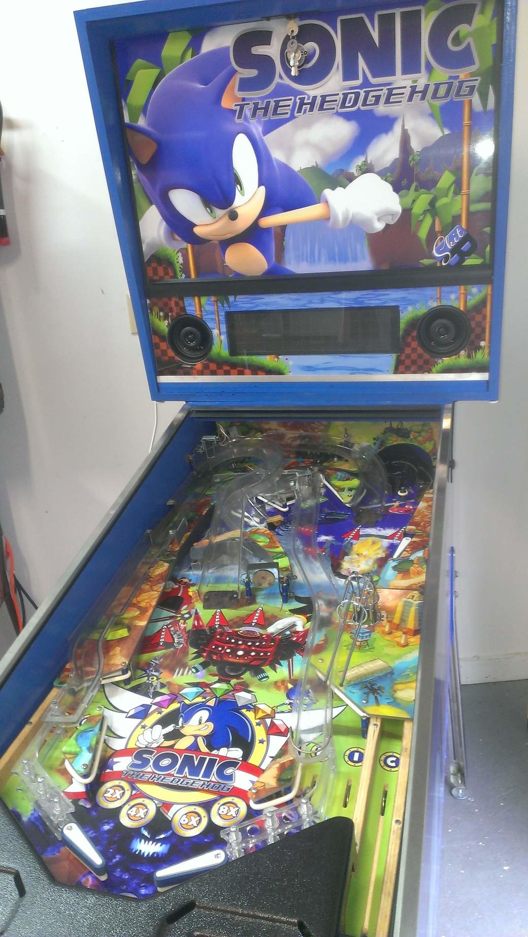 I designed a Sonic the Hedgehog Pinball Machine! : pinball