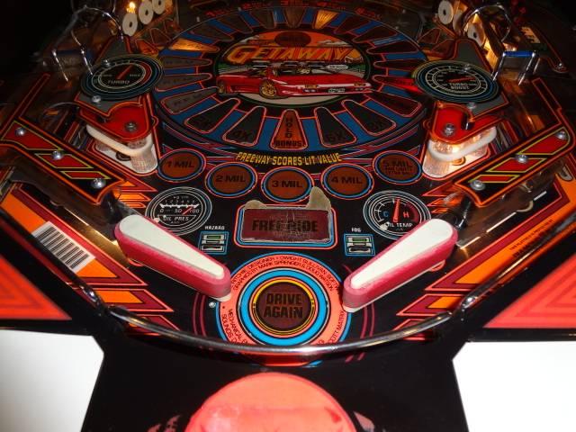 getaway pinball machine for sale