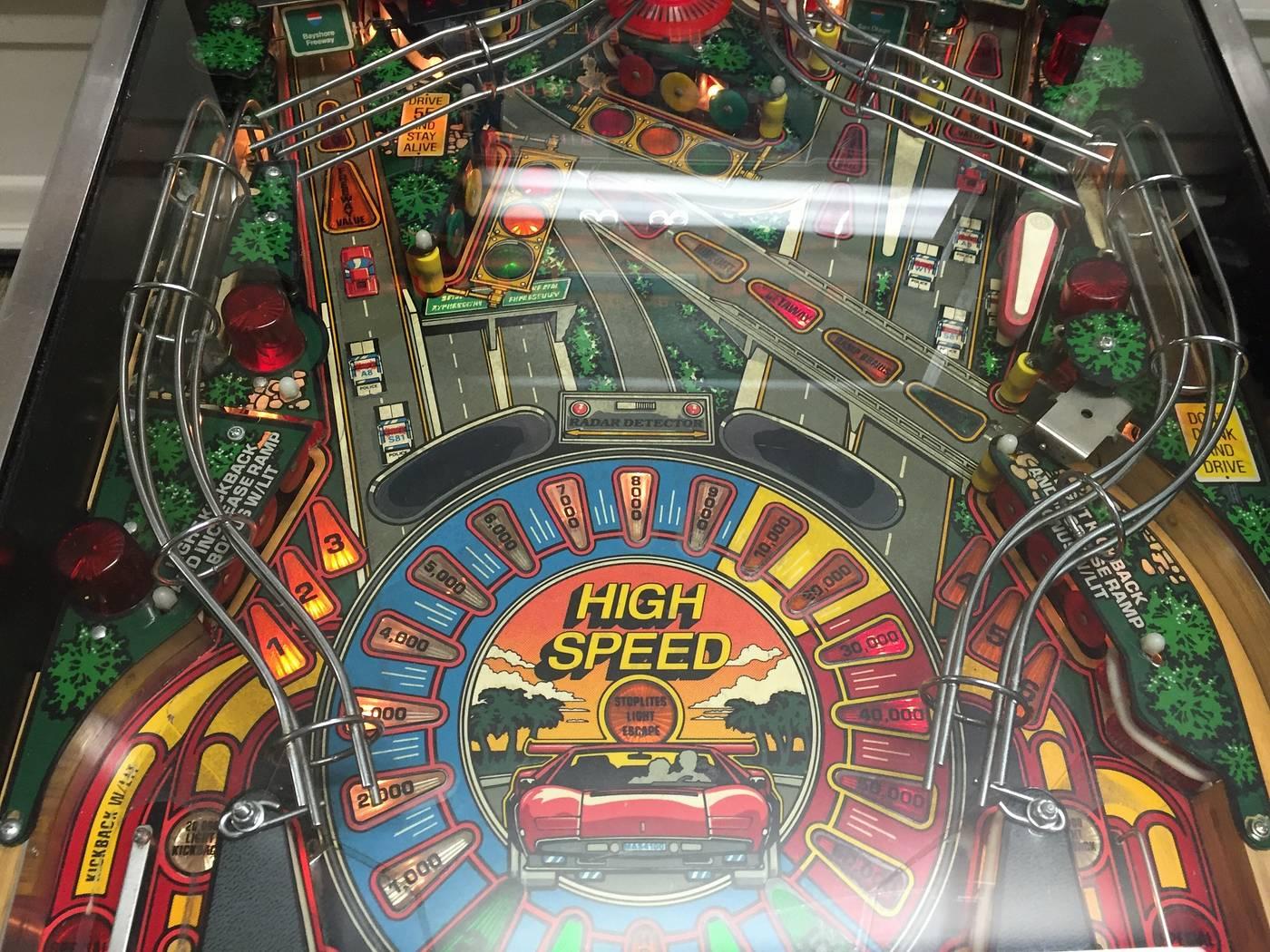 high speed pinball machine for sale