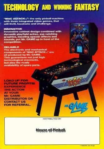 Mac Attack Pinball Machine (Mr Game, 1989) - Image gallery