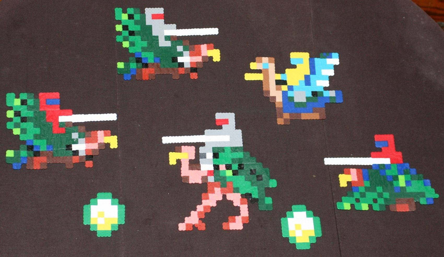 Pacman Dig Dug Joust Donkey Kong Zelda Arcade Art