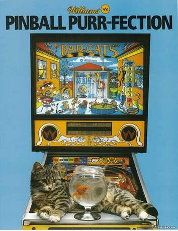 Bad Cats Pinball Machine Williams 1989 Pinside Game