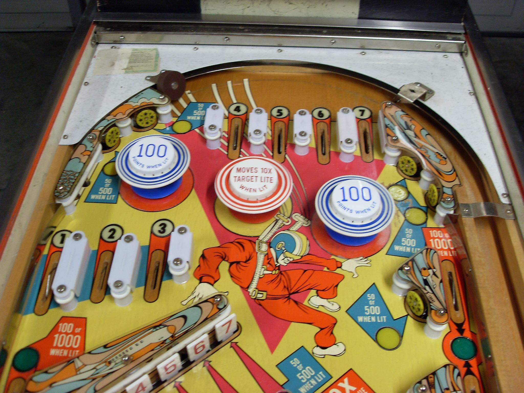 Sky Jump Pinball Machine Gottlieb 1974 Image Gallery Pinside