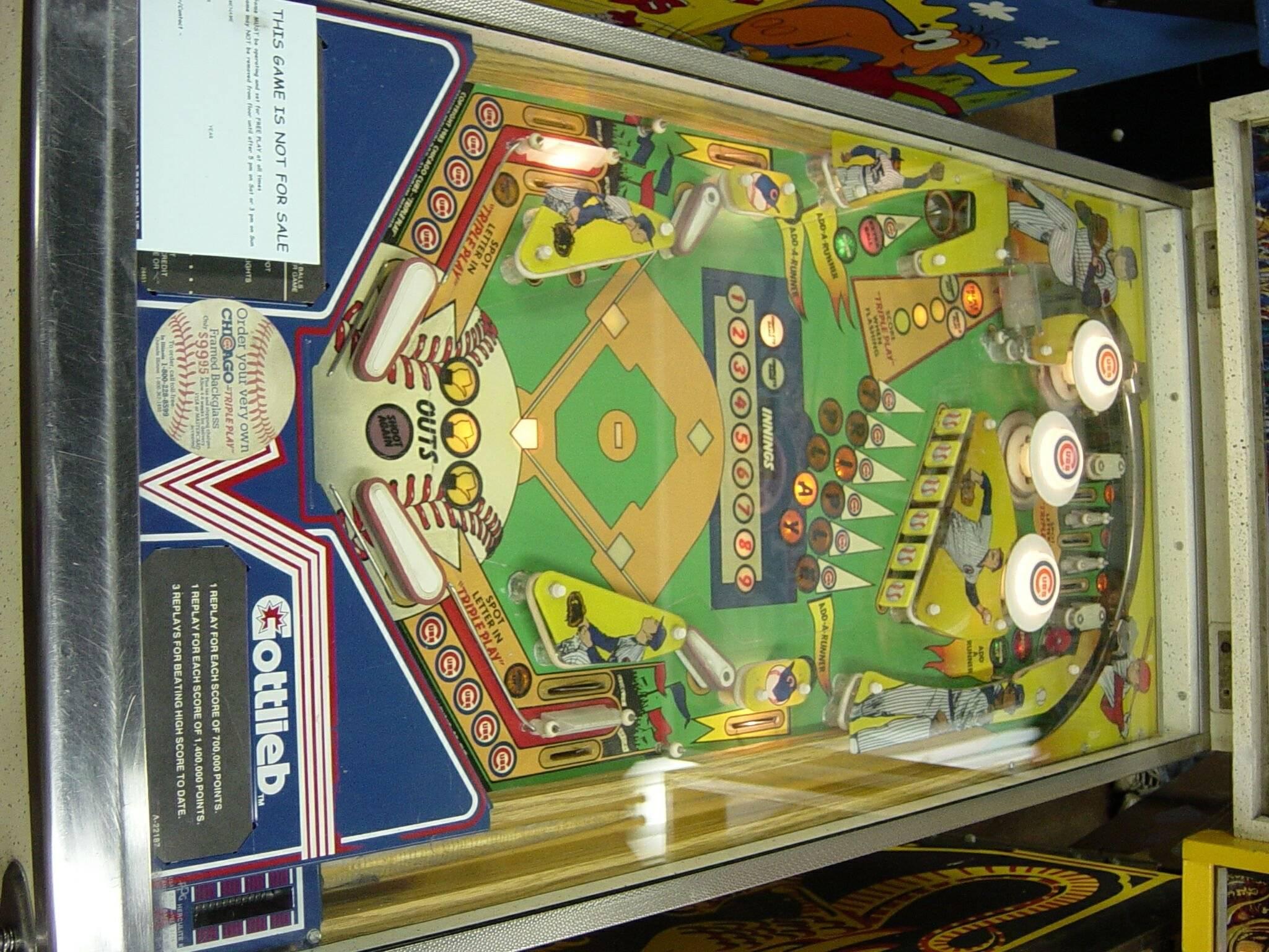chicago cubs pinball machine