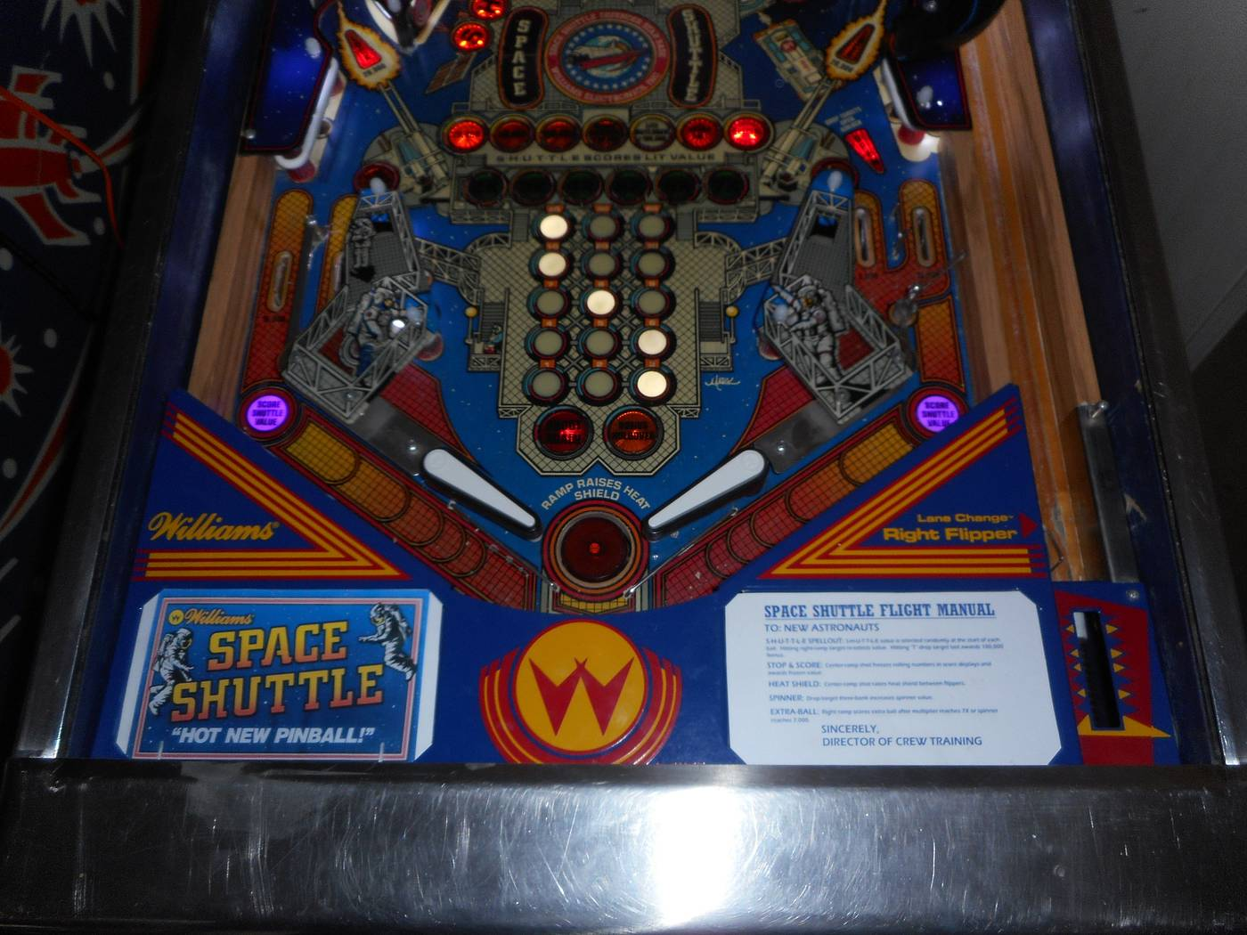 1984 Williams Space Shuttle pinball super kit