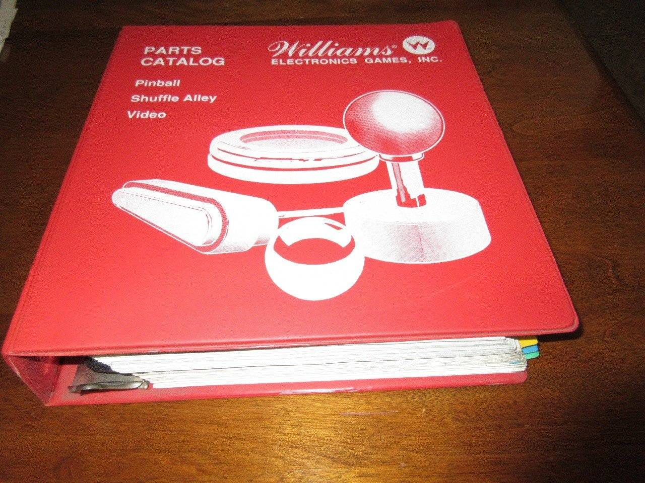 For Sale: Williams Red Parts Catalog - for sale   Pinside Market
