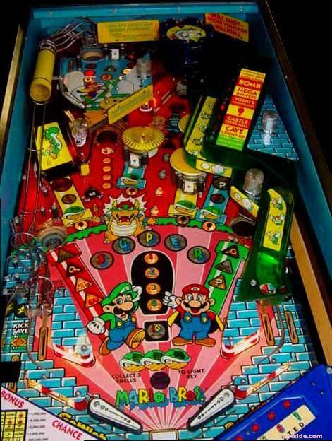 mario bros pinball machine