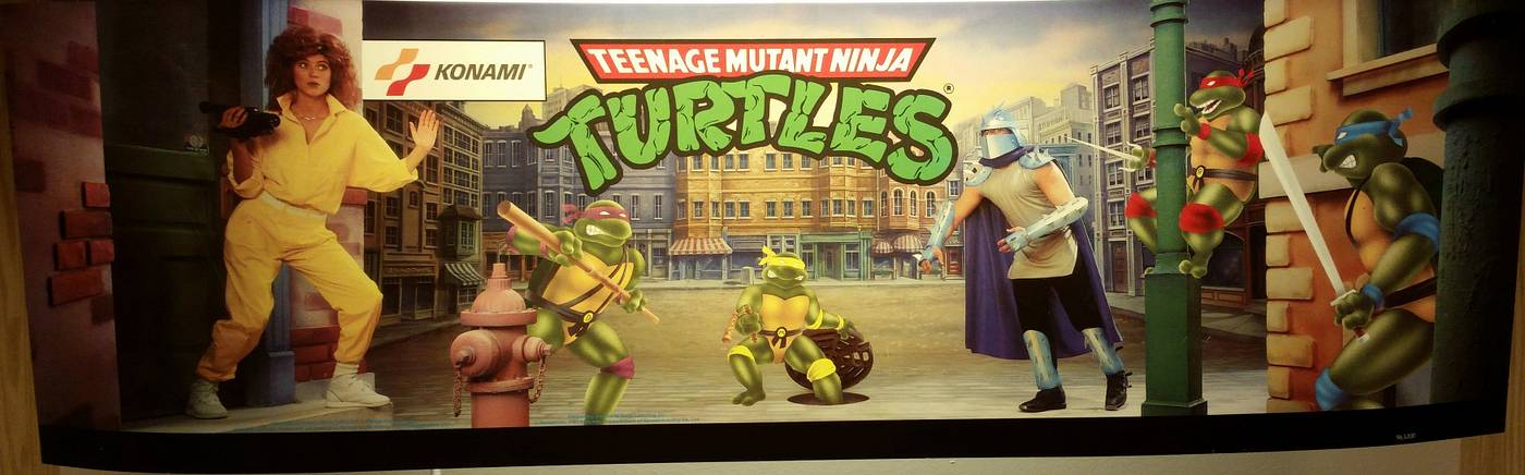 Marquee for Konami TMNT arcade game - for sale | Pinside Market
