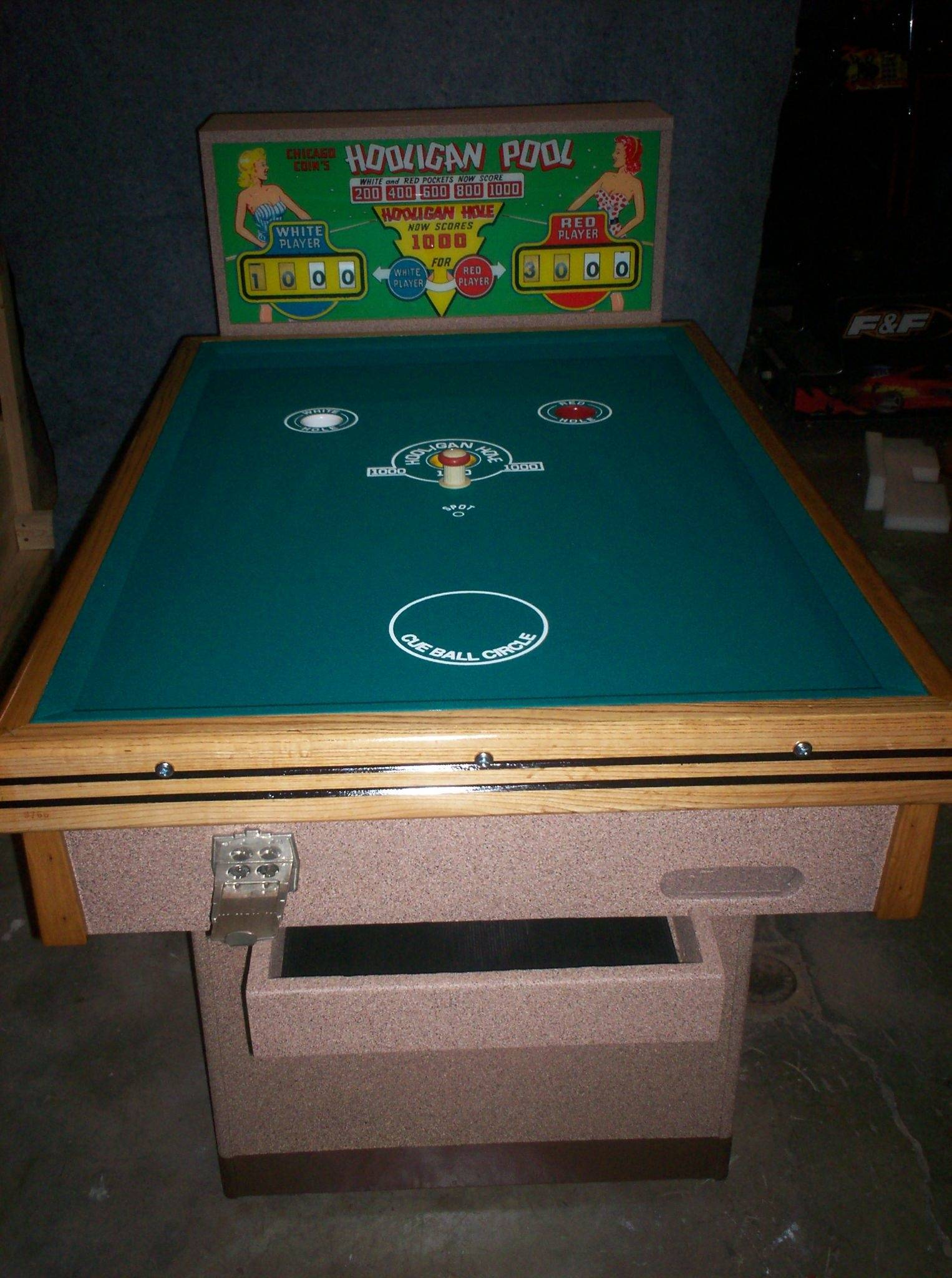 1950 chicago coin hooligan pool restoration restorations documented - Pool restoration ...
